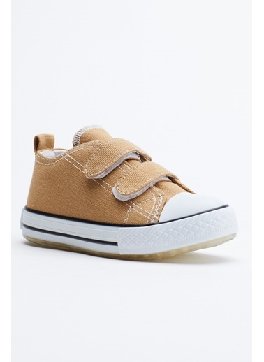 Tonny Black Camel Çocuk Spor Ayakkabı Işıklı Cırtlı Tb997 Camel